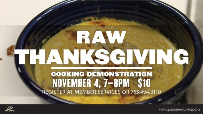 CookingDemo Raw Thanksgiving 20141027